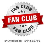 fan club round isolated silver... | Shutterstock .eps vector #644666791