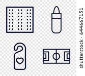 texture icons set. set of 4... | Shutterstock .eps vector #644667151
