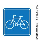blue bicycle vector  square... | Shutterstock .eps vector #644668447