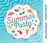 summer party decorated with... | Shutterstock .eps vector #644670355