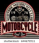 vintage motorcycle t shirt... | Shutterstock .eps vector #644670511