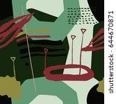 the seamless modern art ... | Shutterstock .eps vector #644670871
