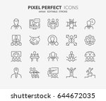 thin line icons set of business ... | Shutterstock .eps vector #644672035