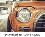 headlight of vintage car retro... | Shutterstock . vector #644672209