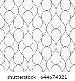 vector seamless pattern. modern ... | Shutterstock .eps vector #644674321