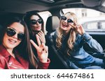 group of friends having fun on... | Shutterstock . vector #644674861