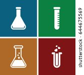 lab icons set. set of 4 lab... | Shutterstock .eps vector #644675569