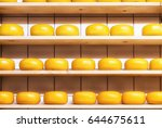 Gouda Cheese On The Shelves In...