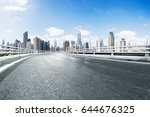 empty road in midtown of... | Shutterstock . vector #644676325