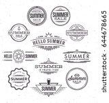 typographic summer design set   ... | Shutterstock .eps vector #644678665