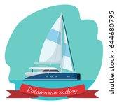 catamaran sailing boat with...