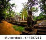 ta prohm castle  angkor wat ... | Shutterstock . vector #644687251