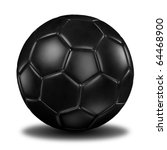 3d rendering of a football ( Leather texture ) - stock photo