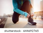jogging and running are healthy ... | Shutterstock . vector #644692765