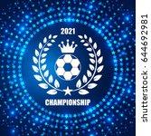 soccer badge. team and... | Shutterstock .eps vector #644692981