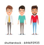 collection of man character in... | Shutterstock .eps vector #644693935