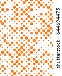 classic seamless polka dot...   Shutterstock .eps vector #644694475
