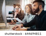 company employees working in... | Shutterstock . vector #644694811