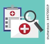 doctor suitcase   portfolio.... | Shutterstock .eps vector #644700019