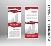 roll up banner stand design.... | Shutterstock .eps vector #644700115