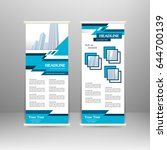 roll up banner stand design.... | Shutterstock .eps vector #644700139