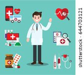 male doctor. vector... | Shutterstock .eps vector #644703121