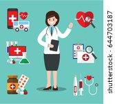 female doctor. vector...   Shutterstock .eps vector #644703187