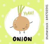 cool card with cartoon onion