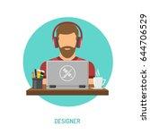 bearded man freelancer designer