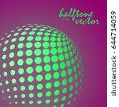 abstract halftone sphere in... | Shutterstock .eps vector #644714059
