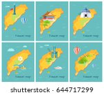 concept of taiwan map in... | Shutterstock .eps vector #644717299