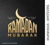 ramadan mubarak creative... | Shutterstock .eps vector #644721541