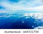 airplane view to the horizon... | Shutterstock . vector #644721754