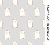 seamless pattern  spooky art  ... | Shutterstock .eps vector #644722981