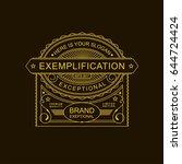 modern emblem  badge  label ... | Shutterstock .eps vector #644724424