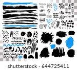vector set of brush acrylic... | Shutterstock .eps vector #644725411