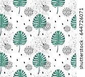 seamless repeating pattern with ...   Shutterstock .eps vector #644726071