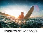 young happy man moves through... | Shutterstock . vector #644729047
