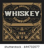 whiskey design for label and... | Shutterstock .eps vector #644732077