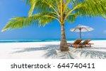 amazing beach. idyllic tropical ... | Shutterstock . vector #644740411