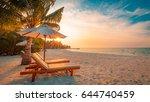 perfect beach. summer holiday... | Shutterstock . vector #644740459