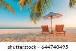 perfect beach view. summer... | Shutterstock . vector #644740495