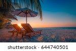 perfect beach sunbeam  sunlight.... | Shutterstock . vector #644740501