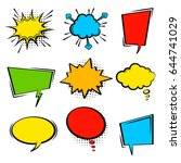 comic speech bubble set. empty...   Shutterstock .eps vector #644741029