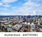 aerial view of residential area ... | Shutterstock . vector #644745481