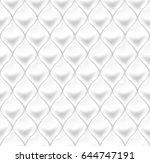 seamless white upholstery... | Shutterstock .eps vector #644747191
