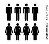 people icon   vector group of... | Shutterstock .eps vector #644747941