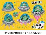 collection of vector stickers... | Shutterstock .eps vector #644752099