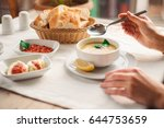 turkish traditional tasty food... | Shutterstock . vector #644753659