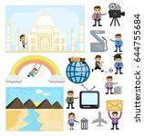 cartoon graphics of technology... | Shutterstock .eps vector #644755684